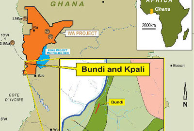 Bundi and Kpali location plan